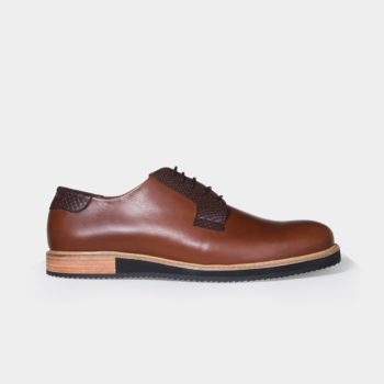 Derby shoes for men made of portuguese leather