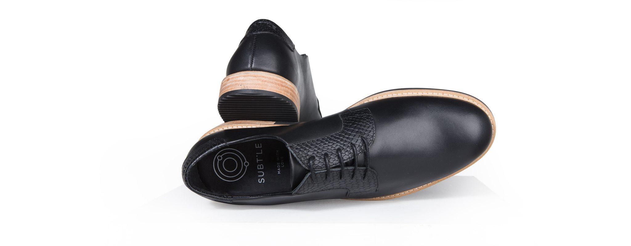 chaussure derby homme cuir noir subtle shoes. Black Bedroom Furniture Sets. Home Design Ideas
