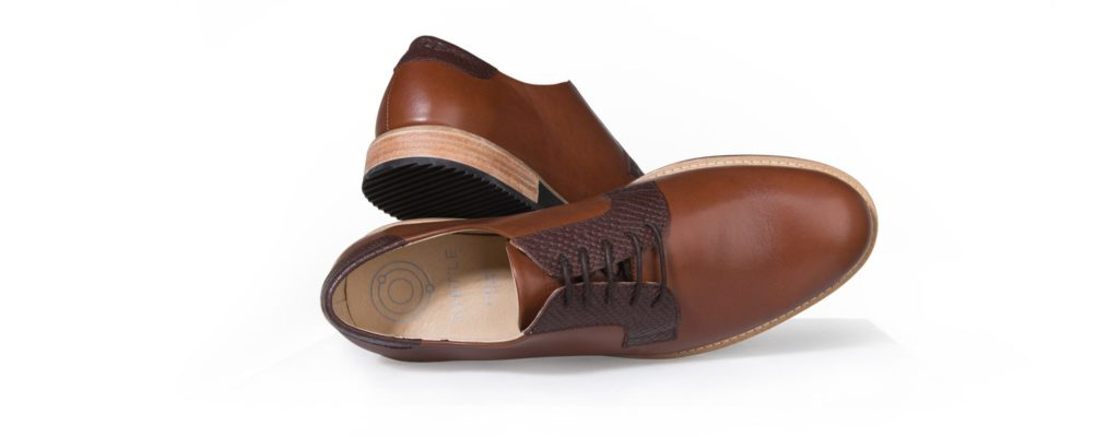 Derbies camel en cuir