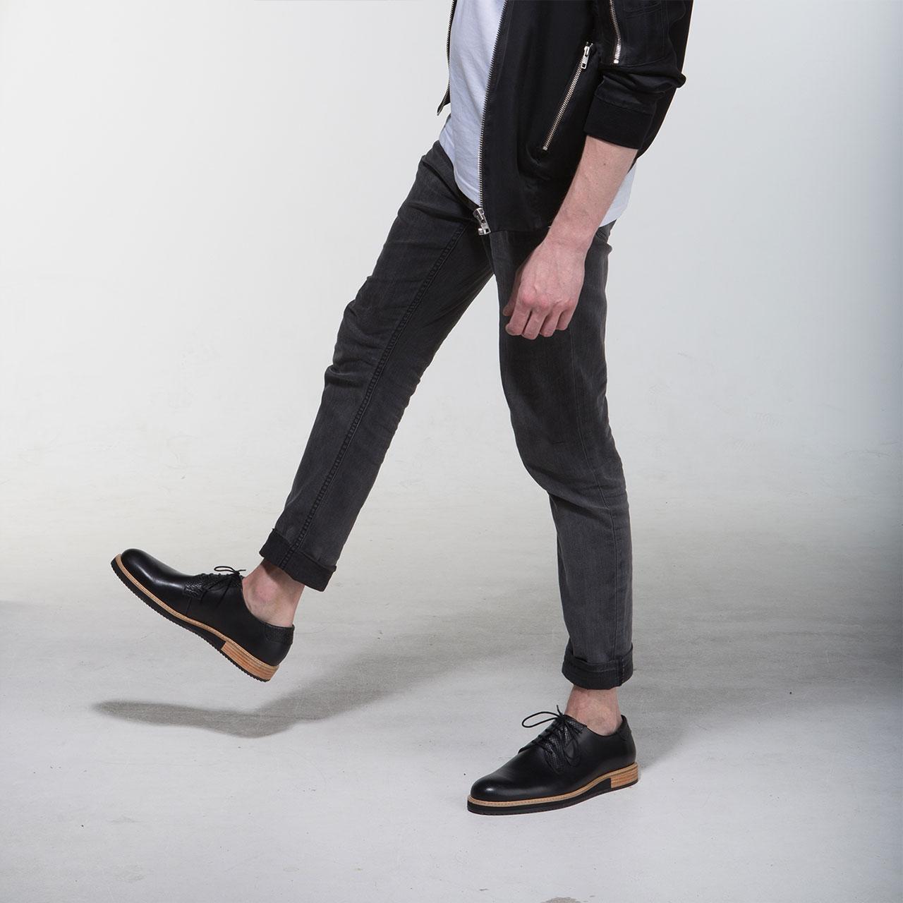 Derbies Shoes Black Alpha Low | Subtle