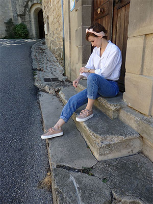 Adeline-basket-cuir-nude-subtle Street Style