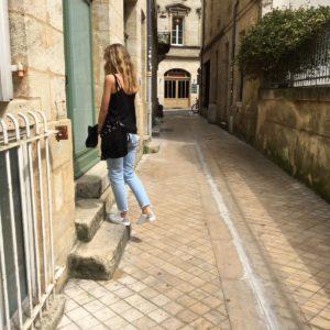 Street Style Pauline Chaussure blanche vegan Epsilon lino