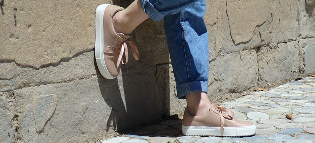 Adeline-leather-Sneaker-handcrafted-Subtle-nude