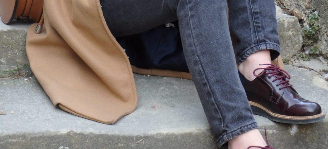 chaussure derby femme vernis